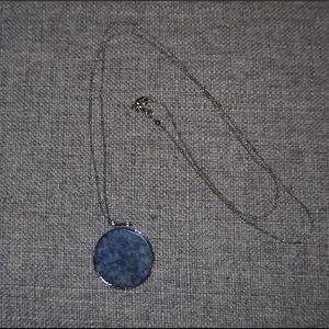 Long necklace with blue stone